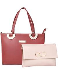 WOMEN MARKS Women's PU Handbag (Brown)