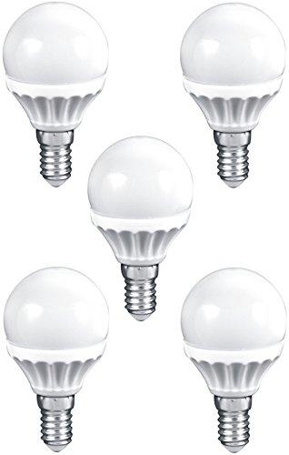 Müller-Licht EEK A+ LED Birne E14 Tropfen 3W 230V warmweiß 250lm (26W Licht) 45x74mm 2700K ersetzt 25W Glühbirne (5er-Set)