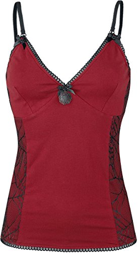 Gothicana by EMP Spider's Web Lace Top Top donna rosso S