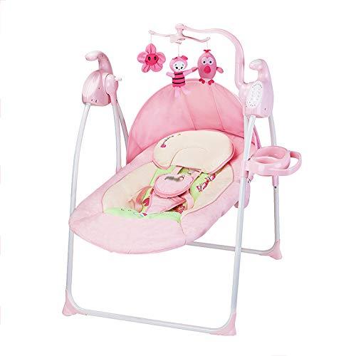 4b5376400 CDREAM Silla Mecedora De Lujo Reclinable Musical para Bebé con Soporte para  La Cabeza,Pink