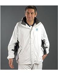 Taylor Bowls Flexi-Dri - Chaqueta impermeable y transpirable unisex, color blanco y gris Talla:XS