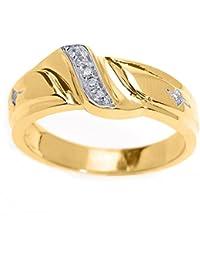 Piccoli Tesori - Anello Uomo Alliance 10 ct Oro 471/1000 Diamante in Oro giallo