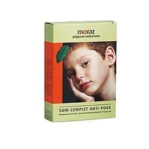 Moraz Soin Anti-Poux Kincare Kit Shampooing et Répulsif et Peigne 250 + 250 ml