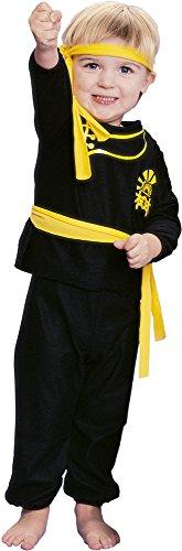 Rubie's - Disfraz infantil de ninja, talla T, color amarillo (11714-T)
