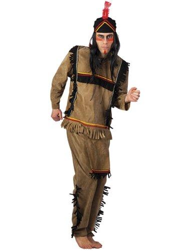 Boland 83596 - Costume da indiano d'America, con barba lunga, 50/52