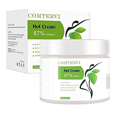 Hot Cream Cellulite Treatment,150ML Firming Cream Belly Fat Burner for Women and Men,Firms Your Skin And Reduces The Appearance Of Cellulite,Deep Tissue Massage Muscle Relaxer by BULK POWDERS