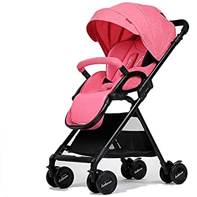 Strollers NAUY @ El Cochecito de bebé Puede Sentarse y acostarse Ligero Plegable Amortiguador Infantil 0-3 años de Edad Carro de Empuje Sillas de Paseo