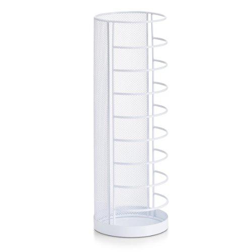 Zeller 17715 - portaombrelli mesh, ø 14 x h 40,5 cm, colore: bianco