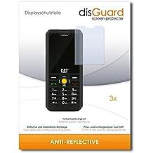 3 x disGuard Anti-Reflective Lámina de protección para Caterpillar Cat B30 Dual SIM / B-30 - ¡Protección de pantalla antirreflectante con recubrimiento duro! CALIDAD PREMIUM - Made in Germany