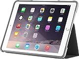 STM Bags Dux Case Folio Schutzhülle für Apple iPad Air 2 - schwarz/transparent [Militär Standard I Transparente Rückseite I Wasserabweisend I Standfunktion I wake/sleep] - STM-222-104J-01
