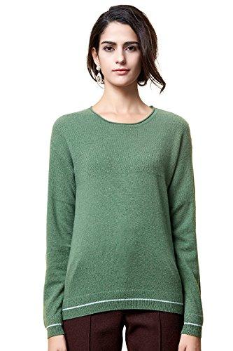 Zhili Women's Cashmere Pullover Sweater Verde