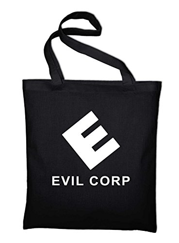 Evil Corporation Corp Jutebeutel, Beutel, Stoffbeutel, Baumwolltasche, schwarz Schwarz