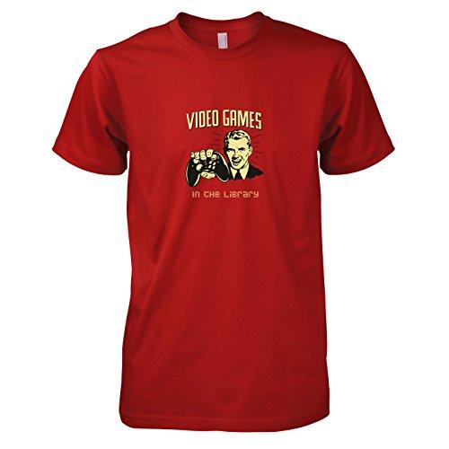 TEXLAB - Library Gaming - Herren T-Shirt Rot