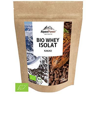 ALPENPOWER | BIO WHEY ISOLAT Kakao | Ohne Zusatzstoffe | 100% natürliche Zutaten | Bio-Milch aus Bayern und Österreich | Superfood Kakao | Hochwertiges Eiweiß | Low Carb | 500 g