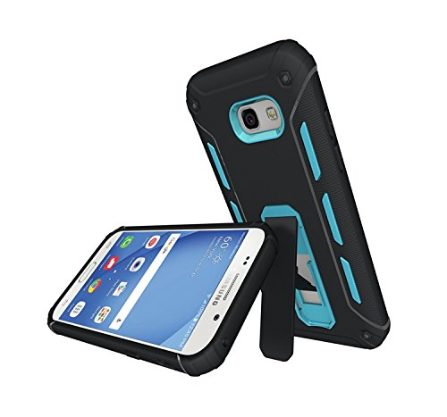 YHUISEN Galaxy A5 2017 Case, Cool Shockproof Rüstung Hybrid 2 In1 TPU und PC Rugged Dual Layer Mit Kickstand Fall für Samsung Galaxy A5 2017 A520 ( Color : White ) Blue