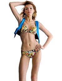 aimerfeel ensemble lingerie soutien-gorge push up avec façade en fasterning, rose ou jaune, 80A-90D