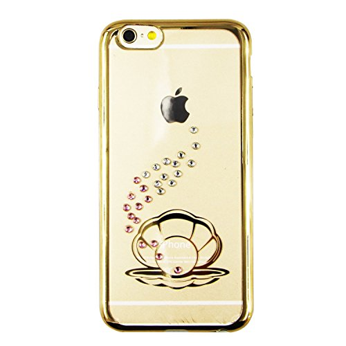 iPhone 6S Hülle Silicone,iPhone 6S Hülle Glitzer,iPhone 6 Hülle Rosa,EMAXELERS iPhone 6S Plating Gold TPU Bumper Case Soft Silikon Gel Schutzhülle Hülle für iPhone 6 4,7 Zoll,iPhone 6S Hülle Glitzer D C TPU 10