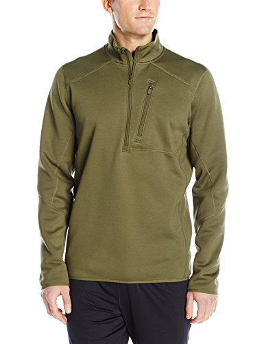 L/s Zip Pullover (Under Armour UA1262441O-L Tactical 1/4 Zip Pullover ColdGear Infrared, langarm, Loose, Oliv, L)