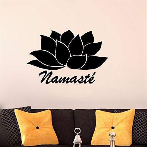 mer Wandtattoo Schlafzimmer Auto Styling Lotus Flower Aufkleber Autofenster Laptop LKW Aufkleber Namaste Yoga Cute Car Sticker für Auto Laptop Fenster Aufkleber ()