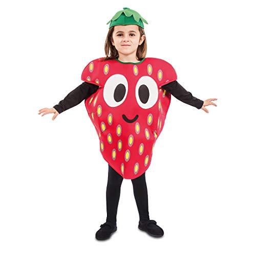 Erdbeere Kostüm Kinder - EUROCARNAVALES Kinder Kostüm Früchtchen 3-4 Jahre Frucht-Verkleidung Obst (Erdbeere)