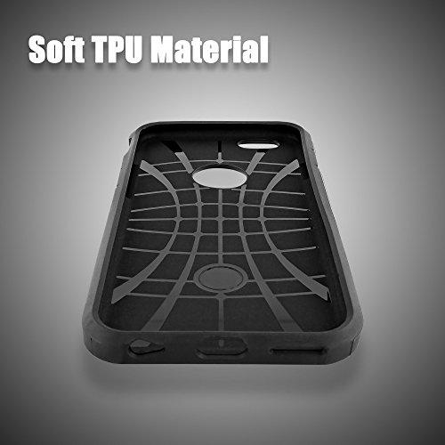 delightable24 Coque Extrême Protection Polycarbonate TPU ARMOR Case pour Apple iPhone 6 / 6S Smartphone - Vert orange
