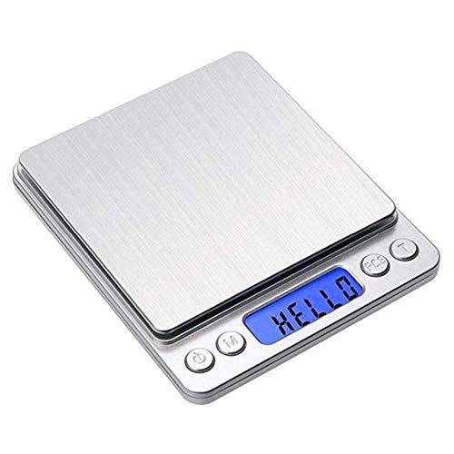 Escala digital de cocina Usb recargable Mini báscula de alimentos Pantalla LCD de alta precisión Escala...