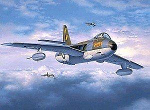 Revell Modellbausatz 04727 - Hawker HUNTER F.Mk.6 (NL, B, GB) im Maßstab 1:32