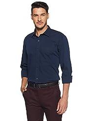 Amazon Brand - Arthur Harvey Men's Solid Regular Fit Formal Shirt