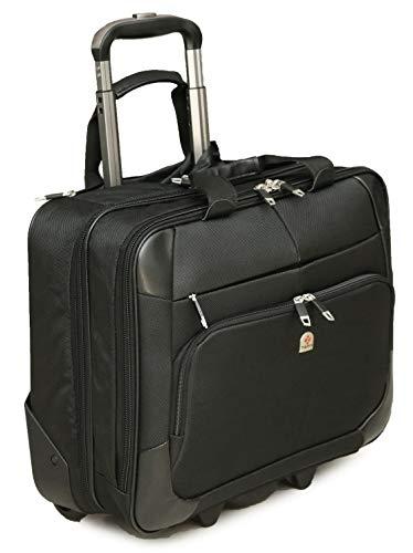 Tassia Laptoptasche mit Rollen und Rollen, für 17 Zoll (43,2 cm) Laptop, 37 Liter -