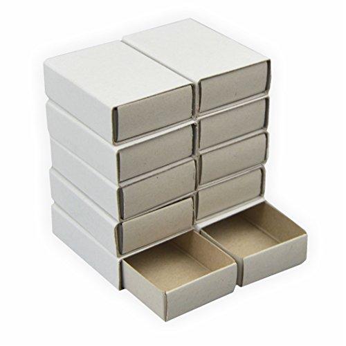 Streichholzschachtel blanco 24 Stück ca. 5 x 3,5 x 1,5 cm weiss DIY perfekt zum basteln