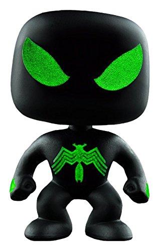 Foto de Funko - Figurine Marvel - Spider-Man Black suit Glow in the Dark Exclu Pop 10cm - 0849803070113