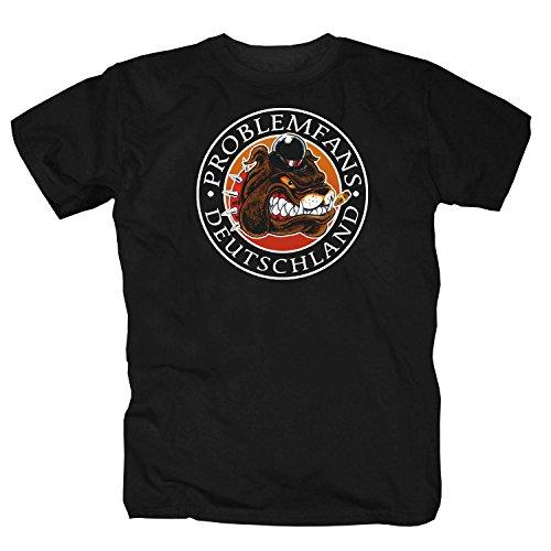 Problemfans Deutschland schw. T-Shirt, Schwarz, XX-Large
