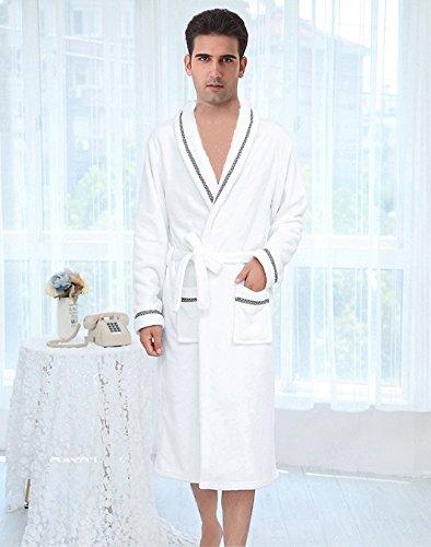 UKGOOD neue freigegebene Liebhaber erwachsene 100% Qualitäts flanell verdicken SPA-Dusche-Schal-Kragen-Bademantel-Kleid-Kleid-Bad-Robe Perfekte Wahl für Haupthotel-reisende Zuhause usw (Erwachsene Rocky Kleid)
