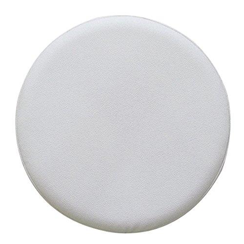 Enerhu Housse de Tabouret Rond en Cuir Artificiel avec Eponge Antidérapante Blanc