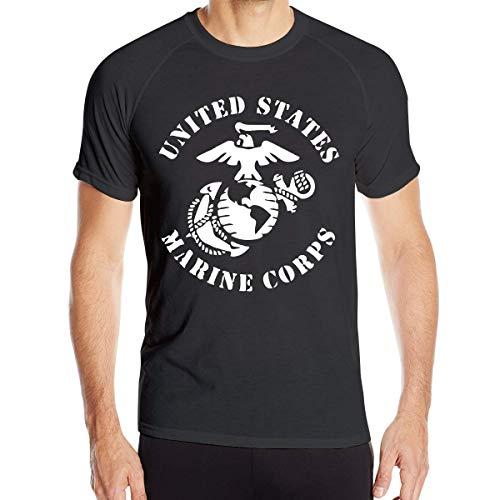 Herren USMC EGA United States Marine Corps T-Shirts Kurzarm Quick Dry Athletic Tee (United States Marine Corps Shirts)