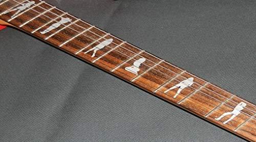 Sexy Girls Fret Markers Stickers Inlay Gitarre & Bass Aufkleber Diapason Gitarre silber