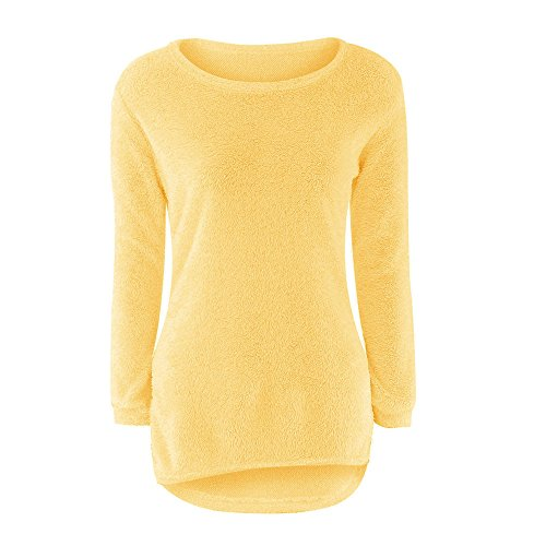 BHYDRY Womens Casual Solid Langarm Pullover