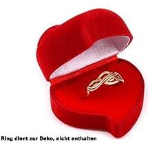 Ringdose , Geschenkbox Schmuckbox für Ringe und Schmuck in Herz form