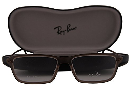 Ray-Ban RX7038 Eyeglasses 53-16-135 Light Matte Brown 5457 RB7038 image