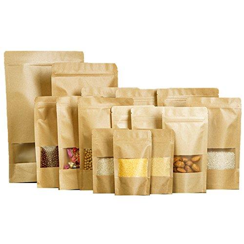 Bolsas de papel marrón con cierre hermético