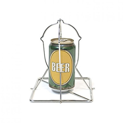 Big Green Egg Vertical Skewer for Chicken Cook The Chicken with Half a Can of Beer