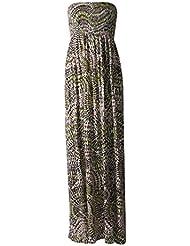 MIXLOT Nouveau femmes recueillir boobtube bandeau dames bustier longue d'été maxi robe plus la taille toute couleur 44-50 XL / XXL