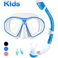 Supertrip Kids Snorkel Set-Childrens Snorkeling Set Swimming Goggles Snorkeling Mask Dry Top Snorkel For Boys Girls