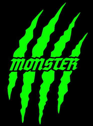 HR-WERBEDESIGN 2X Monster Kralle Sticker Aufkleber Sponsor Motorrad Auto JDM OEM Devil Tuning 9