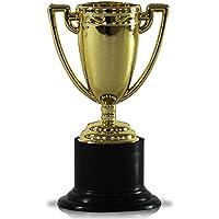 12 x Kunststoff Pokal Sieger Trophäe Sieger gold 10 cm