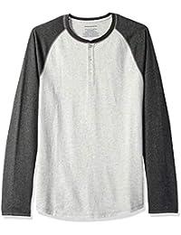 Amazon Essentials Camicia Baseball Slim a Manica Lunga Uomo