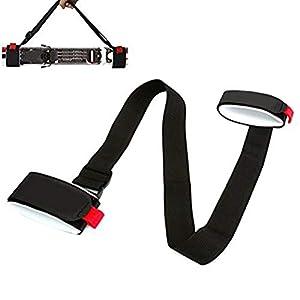 Faviye Verstellbare Skiträger Schultergurt Skiträger für den Skitransport