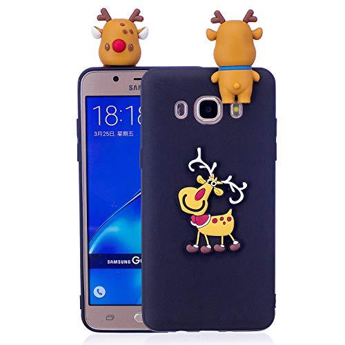 Forhouse Samsung Galaxy J7 (2016) J710 Hülle, Samsung Galaxy J7 (2016) J710 TPU Hülle Ultra Dünn Weiches Silikon TPU Stoßfestigkeit Anti-Scratch Handyhülle für Samsung Galaxy J7 (2016) J710