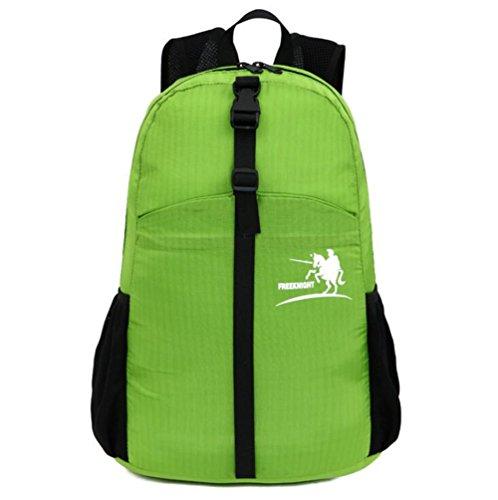 Wmshpeds Gli uomini e le donne di moda generale zaino casual 30L sacca pieghevole borsa da viaggio ultra-light in borsa C