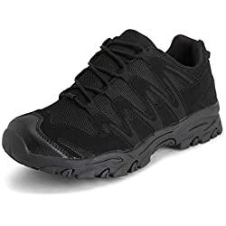 Mujer Get Fit Ligero para Caminar Excursionismo Trekking Durable Zapatos - Negro/Negro - EU38/UK5 - BS0214